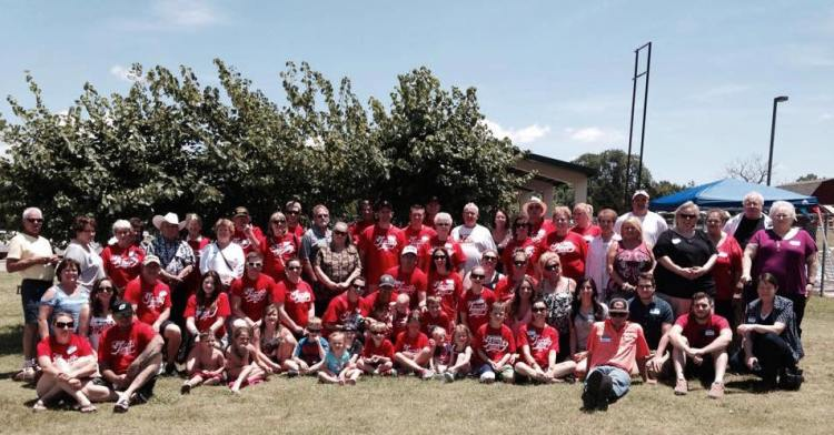 Only a small fraction of the Hedrick Clan, founded by my grandmother and her sister-in-law, Verlie.