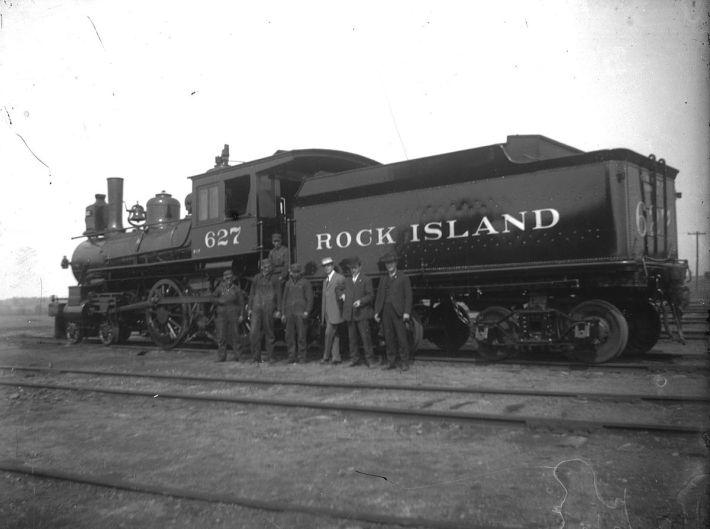 Old Rock Island Train, circa 1880