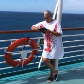 "Georgia - Love this comment that came with this image: ""Linda L. of GA can hardly put The Edge of Nowhere down , even on a Bahamian cruise."""
